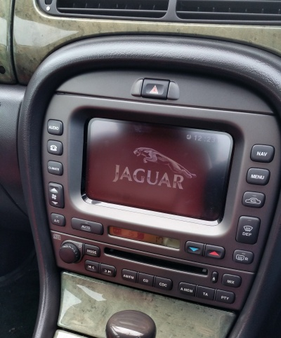 After - the Jaguar touchscreen. I didn't actually fit the climate control panel (that was just for testing). I then went straight on to fitting the touchscreen and navigation unit.